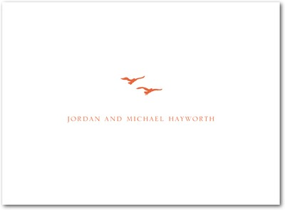 Tandem Flight Thermography Thank You Cards TH Mandarin