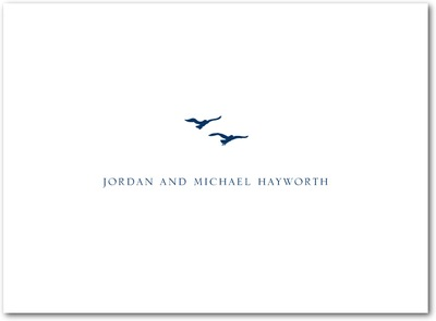 Tandem Flight Thermography Thank You Cards TH Navy
