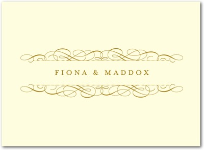 Fine Flourish Thermography Thank You Cards TH Gold