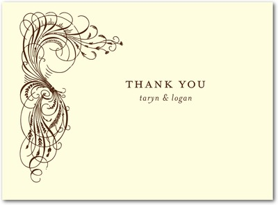 Estate Affair Thermography Thank You Cards TH Brown
