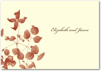 Natural Wildflower Signature Ecru Thank You Cards Rich Red
