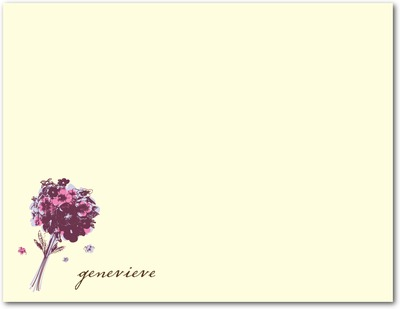 Bountiful Bouquet Signature Ecru Thank You Cards Verbena