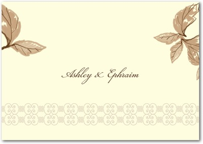 Enchanting Story Signature Ecru Thank You Cards Wood