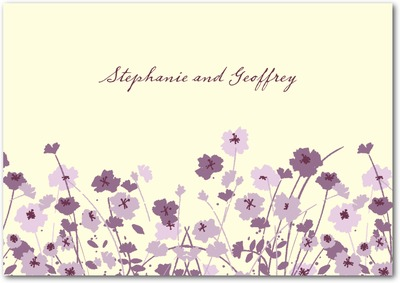 Fields In Bloom Signature Ecru Thank You Cards Deep Plum