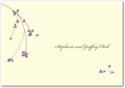 Forget Me Knot Signature Ecru Thank You Cards Deep Plum