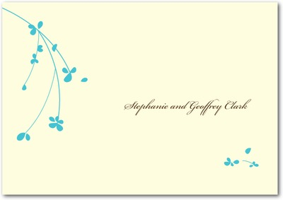 Forget Me Knot Signature Ecru Thank You Cards Paradise