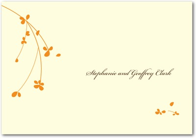 Forget Me Knot Signature Ecru Thank You Cards Pumpkin