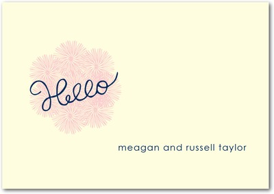 Hello Sunshine Signature Ecru Thank You Cards Navy
