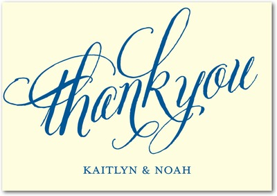 Until Forever Signature Ecru Thank You Cards Blue Moon