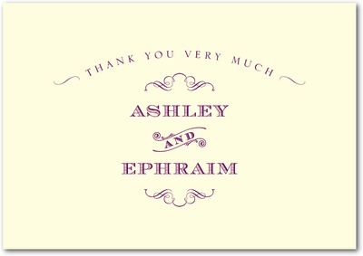 Antique Chic Signature Ecru Thank You Cards Majestic