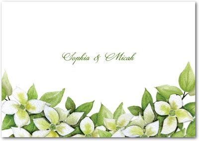 Flowering Dogwood Signature White Thank You Cards Envy