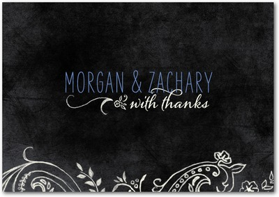 Chalk Celebration Signature White Thank You Cards Hydrangea