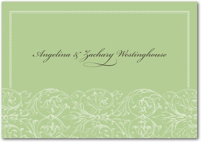 Filigree Pattern Signature White Thank You Cards Juniper