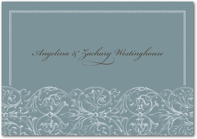 Filigree Pattern Signature White Thank You Cards Ore