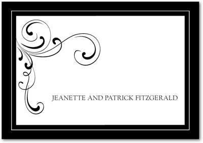 Simple Elegance Signature White Thank You Cards Black