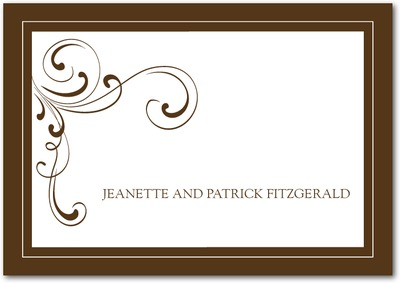 Simple Elegance Signature White Thank You Cards Chocolate