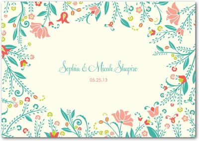 Romantic Meadow Signature White Thank You Cards Bay