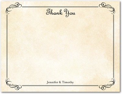 Romantic Times Signature White Thank You Cards Eggshell