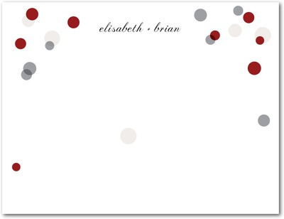 Confetti Dots Signature White Thank You Cards Rich Red