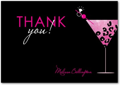 Rock On Rocks Signature White Thank You Cards Fuchsia