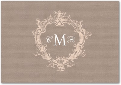 Textured Linen Signature White Thank You Cards Suede
