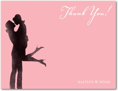 Off Her Feet Signature White Thank You Cards Rose
