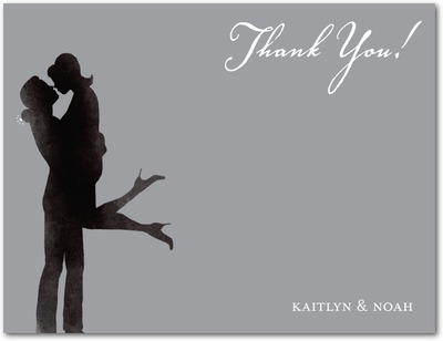 Off Her Feet Signature White Thank You Cards Smoke