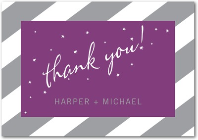 In The Stars Signature White Thank You Cards Smoke