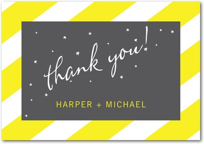 In The Stars Signature White Thank You Cards Sunny Yellow
