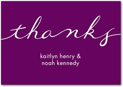Perfect Knot Signature White Thank You Cards Majestic