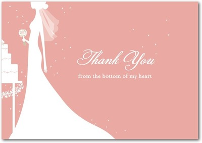 Starry Bride Signature White Thank You Cards Taffy