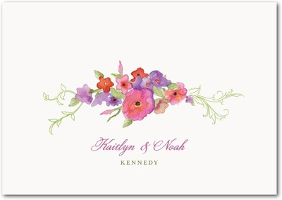 Arbor Blooms Signature White Thank You Cards Fuchsia