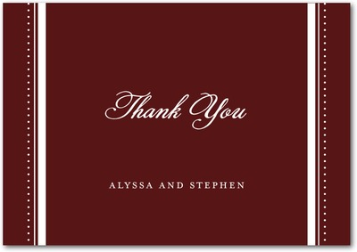 Tuxedo Chic Signature White Thank You Cards Velvet