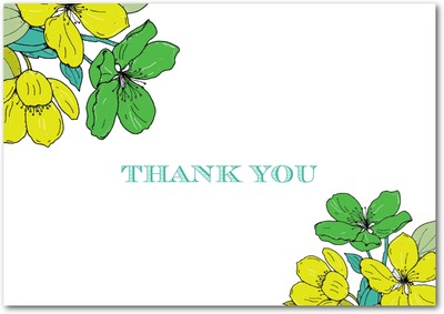 Bold Garden Signature White Thank You Cards Fern