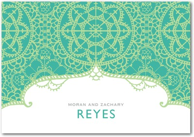 Exotic Lace Signature White Thank You Cards Bay