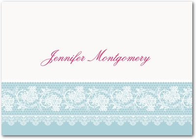Luxe Lace Signature White Thank You Cards Peppermint