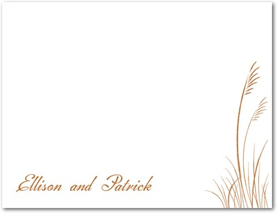 Sea Grass Signature White Thank You Cards Rust