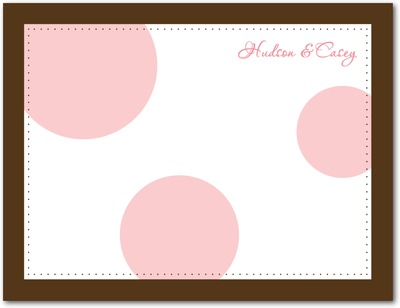 Bubble Signature White Thank You Cards Carnation