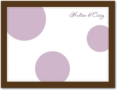 Bubble Signature White Thank You Cards Plum