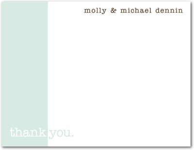 We Do Signature White Thank You Cards Aloe