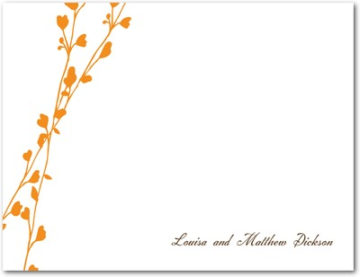 Vine Signature White Thank You Cards Pumpkin