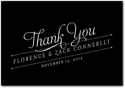 Artistic Angle Signature custom thank you cards Black