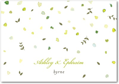 Autumn Shower Signature Premium Thank You Cards Midori