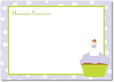 Cupcake Bride Studio Basics: Flat Thank You Cards Verbena