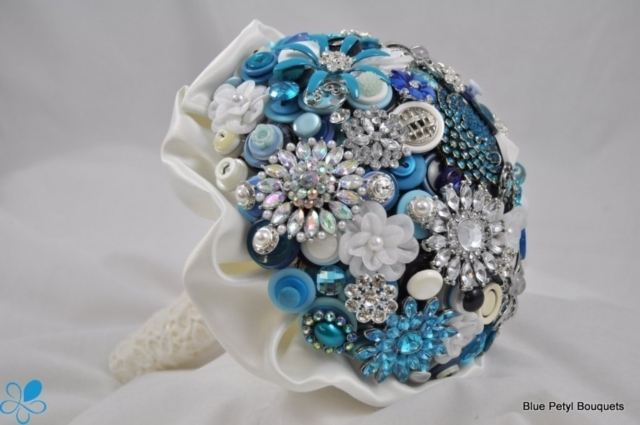 Blue Button Bouquet