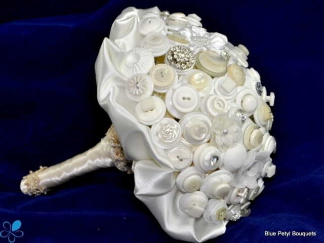 White Button Bouquet
