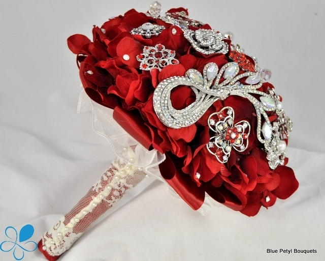 Ruby Red Hydrangea Bouquet HL12