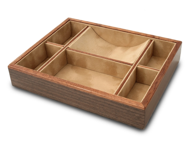 Groomstars Wenge Wood Multi-sectioned Valet Tray