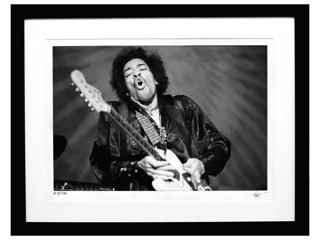 Jimi Hendrix in San Francisco CA by Baron Wolman
