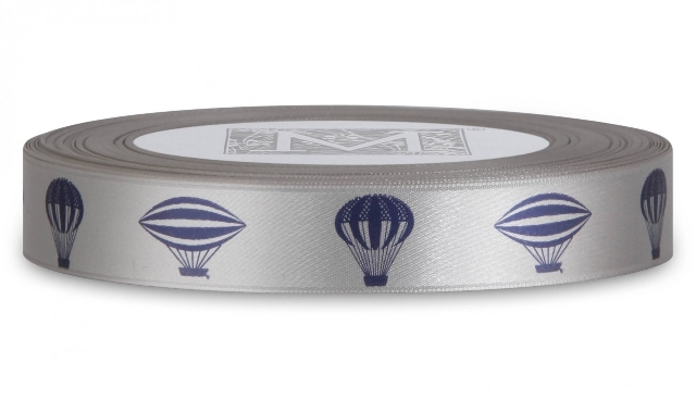 "MIDORI Bridal ""Him & Him"" Collection - Symbols on Double Faced Satin - Ancient Airships"